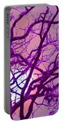 Moon Tree Pink Portable Battery Charger by First Star Art