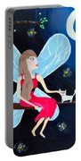Moonlight Fairy And Fireflies Portable Battery Charger