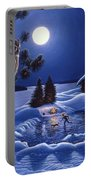 Moonlight Magig-great Horned Owls Portable Battery Charger