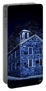 Moonlight On The Old Stone Building  Portable Battery Charger by Edward Fielding