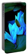 Moonlit Waterlilies Portable Battery Charger