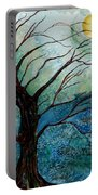 Moonrise In The Wild Night Portable Battery Charger