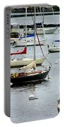 Moored At Kittery Point Maine Portable Battery Charger