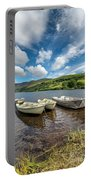 Moored Boats  Portable Battery Charger by Adrian Evans