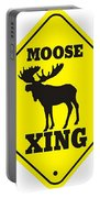 Moose Crossing Sign Portable Battery Charger