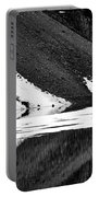 Moraine Lake Abstract - Black And White #2 Portable Battery Charger