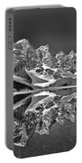 Moraine Lake - Black And White Portable Battery Charger