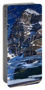 Moraine Lake Reflection Abstract Portable Battery Charger