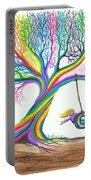 More Rainbow Tree Dreams Portable Battery Charger