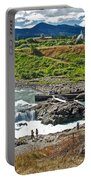 Moricetown Falls And Canyon Fishing Operation On The Bulkley River In Moricetwown-british Columbia  Portable Battery Charger