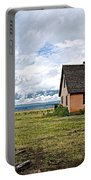 Mormon Row Historic District In Grand Tetons National Park-wyoming Portable Battery Charger