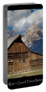 Mormon Row Poster Portable Battery Charger