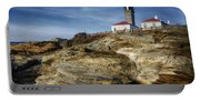 Morning At Beavertail Lighthouse Portable Battery Charger