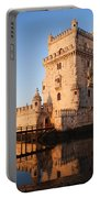 Morning At Belem Tower In Lisbon Portable Battery Charger