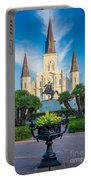 Morning At Jackson Square Portable Battery Charger