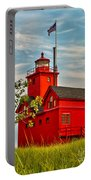 Morning At The Big Red Lighthouse Portable Battery Charger