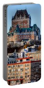 Morning Dawns Over The Chateau Frontenac Portable Battery Charger