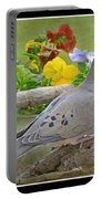 Morning Dove With Pansies Portable Battery Charger