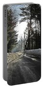 Morning Light On The Road Portable Battery Charger