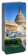 Powerful - Washington Dc Morning Light On Us Capitol Portable Battery Charger