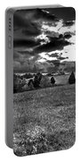 Morning On The Farm Two Bw Portable Battery Charger