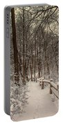 Morning Snow Path Portable Battery Charger