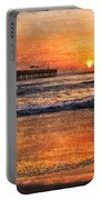 Morning Surf Portable Battery Charger by Debra and Dave Vanderlaan