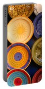 Moroccan Pottery On Display For Sale Portable Battery Charger by Ralph A  Ledergerber-Photography