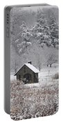 Morris Arboretum Mill In Winter Portable Battery Charger