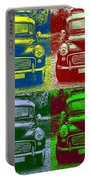 Morris Car In Pop Art Portable Battery Charger