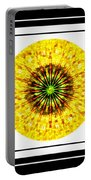 Mosaic Blue Circles With Yellow Portable Battery Charger