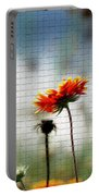 Mosaic Flower Portable Battery Charger