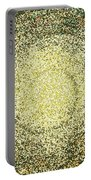 Mosaic Galaxy In Gold Portable Battery Charger
