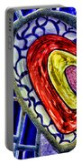 Mosaic Heart By Diana Sainz Portable Battery Charger
