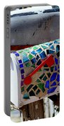 Mosaic Mailbox On The Turquoise Trail In New Mexico Portable Battery Charger