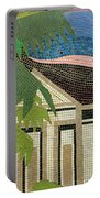 Mosaic Of Church With Palm Tree Portable Battery Charger