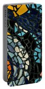 Mosaic Pattern On Wall Portable Battery Charger