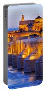 Mosque-cathedral And The Roman Bridge In Cordoba Portable Battery Charger