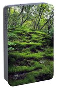 Moss Forest In Kyoto Japan Portable Battery Charger