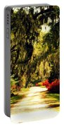 Moss On The Trees At Monks Corner In Charleston Portable Battery Charger