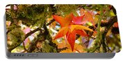 Mossy Lichen Tree Leaves Art Prints Autumn Portable Battery Charger