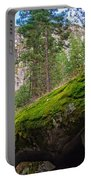 Mossy Rocks Along Vernal Falls Trail Portable Battery Charger