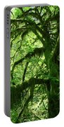 Mossy Tree Portable Battery Charger by Athena Mckinzie