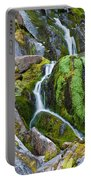 Mossy Waterfall At Snow Lake Portable Battery Charger