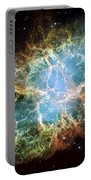 Most Detailed Image Of The Crab Nebula Portable Battery Charger by Adam Romanowicz