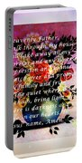 Most Powerful Prayer With Flowers In A Vase Portable Battery Charger
