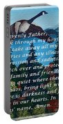 Most Powerful Prayer With Goose Flying And Autumn Scene Portable Battery Charger