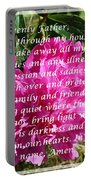 Most Powerful Prayer With Peony Bush Portable Battery Charger