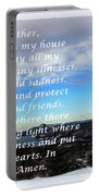 Most Powerful Prayer With Winter Scene Portable Battery Charger