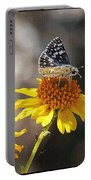 Moth And Flower Portable Battery Charger